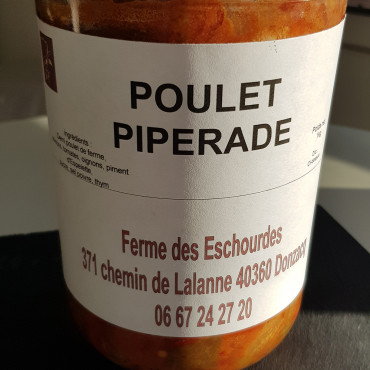 Poulet piperade - bocal 1kg
