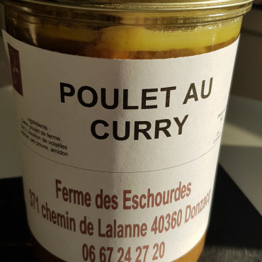 poulet curry - bocal 1kg